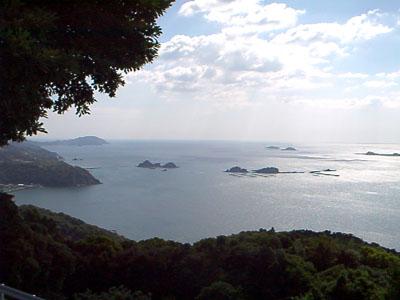 海が見渡せる景色
